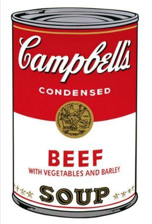 シルクスクリーン Warhol - '' Campbell 's  Soup ''