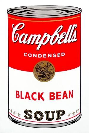 シルクスクリーン Warhol (After) - Campbell's Soup - Black Bean