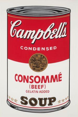 シルクスクリーン Warhol - Campbell`s Soup (Beef Consommé)