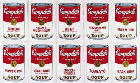 シルクスクリーン Warhol (After) - Campbell´s Soup Can Set of 10