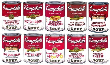 シルクスクリーン Warhol (After) - Campbell´s Soup Can Set of 10 Serie 2