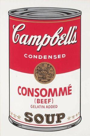 シルクスクリーン Warhol - Campbell's Soup: Consommé (FS II.52)