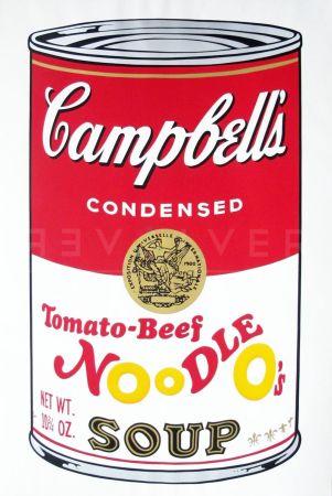 シルクスクリーン Warhol - Campbell'S Soup Ii: Tomato Beef Noodle O'S (Fs Ii.61)