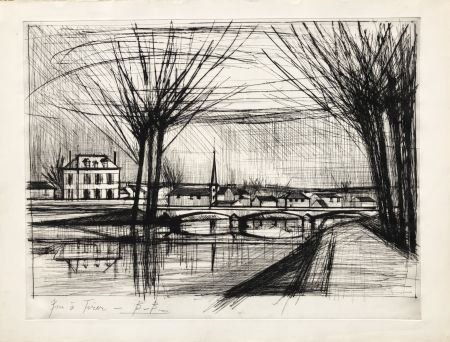 彫版 Buffet - Canal a Soissons