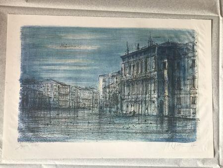 リトグラフ Carzou - Canal Venice with Gondola