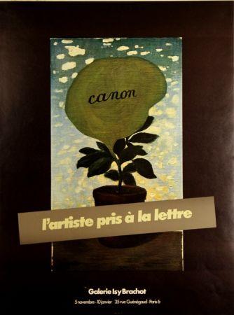 オフセット Magritte - Canon L 'artiste Pris à la Lettre