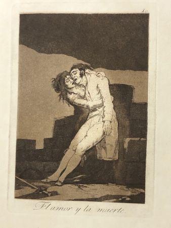 エッチング Goya - Capricho10. El amor y la muerte