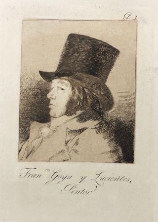 エッチング Goya - Capricho1. Francisco , Goya y Lucientes pintor