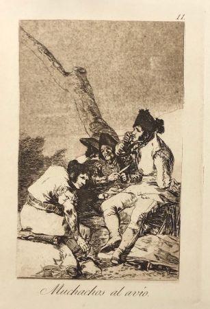 エッチング Goya - Capricho 11. Muchachos al avio