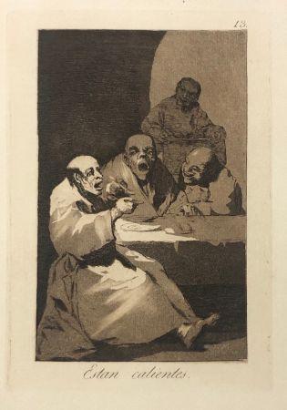 エッチング Goya - Capricho 13. Están calientes