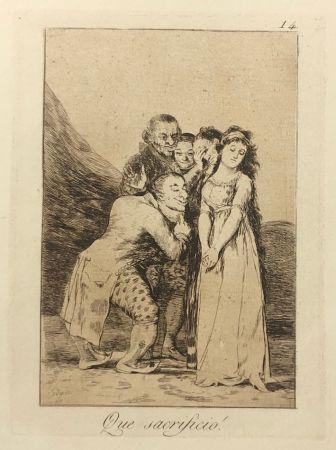 エッチング Goya - Capricho 14. Que sacrificio