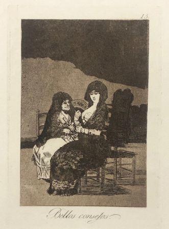 エッチング Goya - Capricho 15. Bellos consejos
