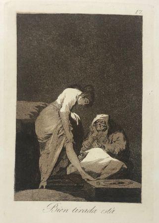 エッチング Goya - Capricho 17. Bien tirada está