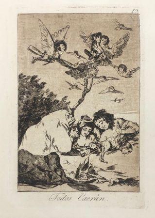 エッチング Goya - Capricho 19. Todos Caerán