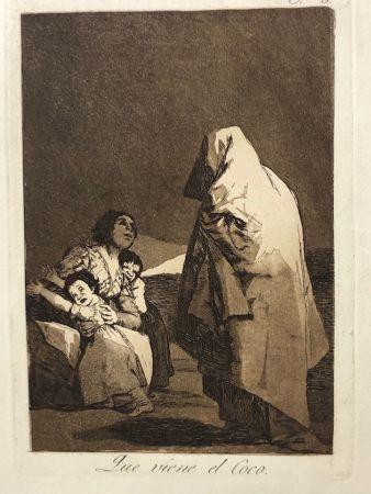 エッチング Goya - Capricho 3. Que viene el coco