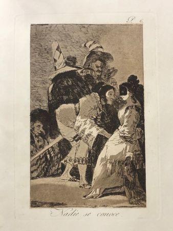 エッチング Goya - Capricho 6. Nadie se conoce