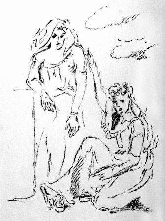 リトグラフ De Pisis - Carmi di Catullo XI