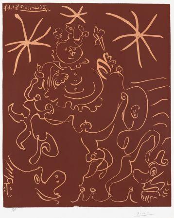 リノリウム彫版 Picasso - Carnaval (Carnival), 1967
