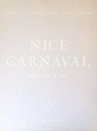 リトグラフ Vautier - Carnaval de Nice