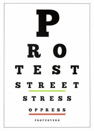 リトグラフ Navarro - Carta Visual (Protest)