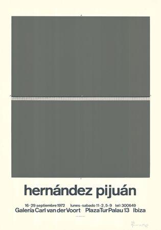 シルクスクリーン Hernandez Pijuan - Cartel de la exposición Galería Carl van der Voort, Ibiza