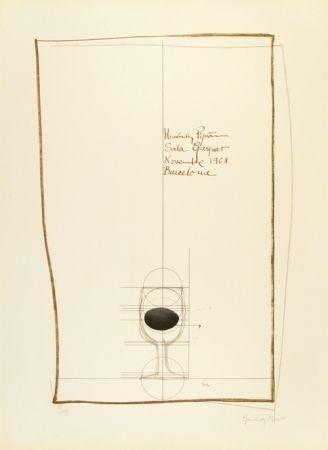 リトグラフ Hernandez Pijuan - Cartel exposición Sala Gaspar