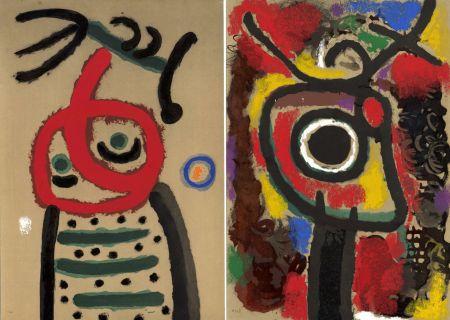 挿絵入り本 Miró - CARTONES. New-York 1965