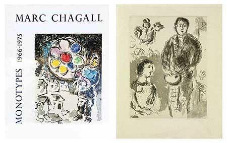 挿絵入り本 Chagall - Catalogue des monotypes