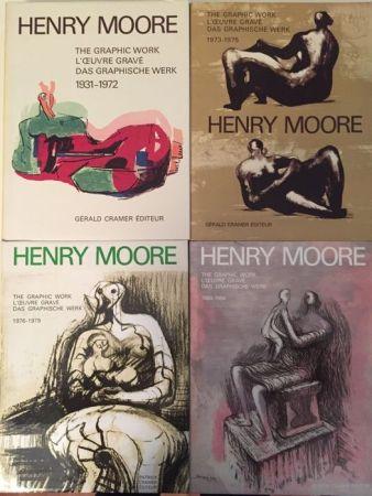 挿絵入り本 Moore - Catalogue Raisonné of Henry Moore Graphic Work 1931 - 1984 (4 Volume Set)
