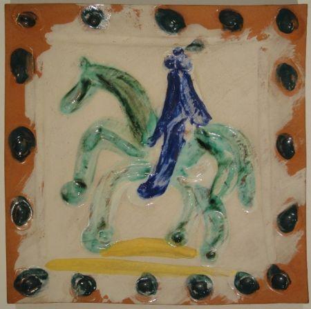 セラミック Picasso - Cavalier and horse / Cavalier et cheval