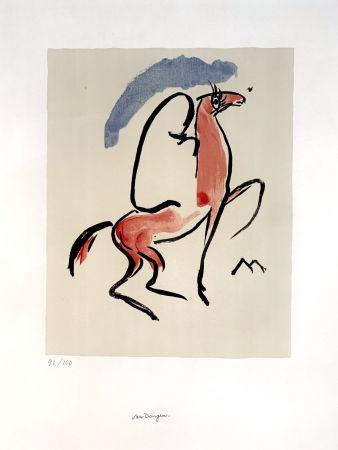 リトグラフ Van Dongen - Cavalier Arabe