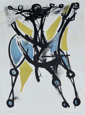 リトグラフ Marini - Cavalier et Cheval, Jeune et Blue, 1952