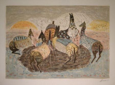 リトグラフ Music - Cavallini Che Giacano / Spielende Pferde