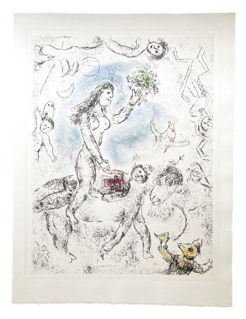 エッチングと アクチアント Chagall - Ce lui qui dit les choses sans rien dire (Plate 22)