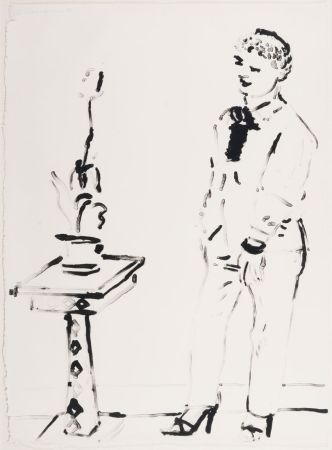 リトグラフ Hockney -  Celia Amused