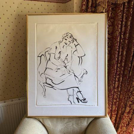 リトグラフ Hockney -  Celia Inquiring