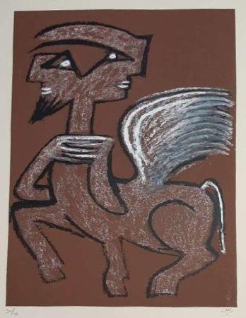 シルクスクリーン Matta - Centaur Hemaphrodite