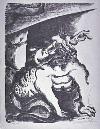リトグラフ Zadkine - Cerbere