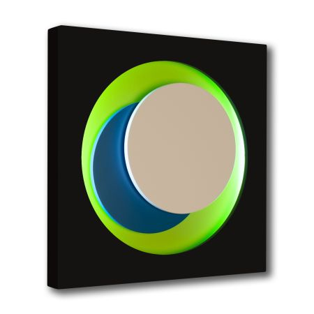 木版 Claisse - Cercle Noir et Vert
