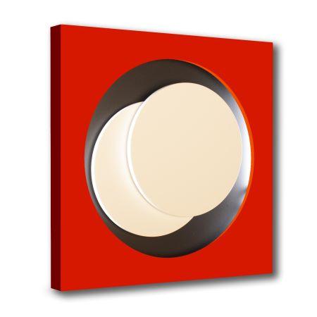 木版 Claisse - Cercle Rouge et Noir