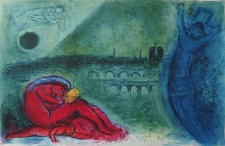リトグラフ Chagall - Chagall- Quai de la Tournelle