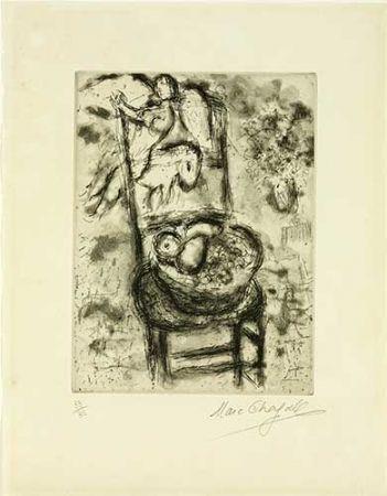 彫版 Chagall - Chaise à la corbeille de fruits