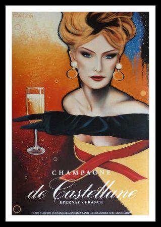 掲示 Razzia - CHAMPAGNE DE CASTELLANE - EPERNAY FRANCE