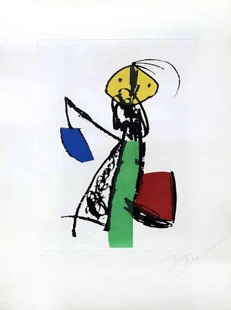 彫版 Miró - Chanteurs des rues