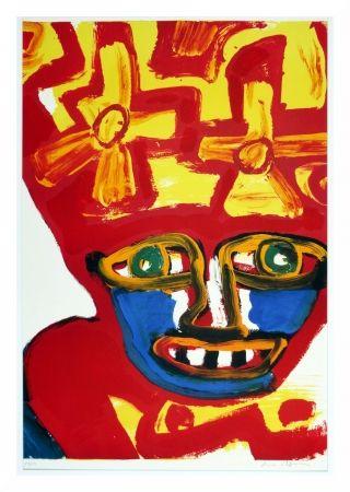 リトグラフ Lindstrom - Chapeau rouge et jaune