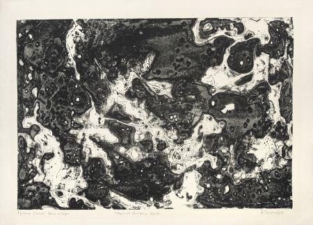 リトグラフ Dubuffet - Chars et chevaux célestes