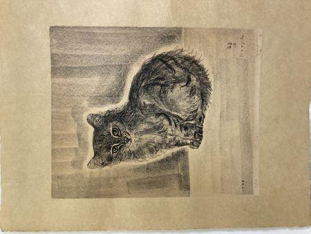 リトグラフ Foujita - Chat assis, 1926