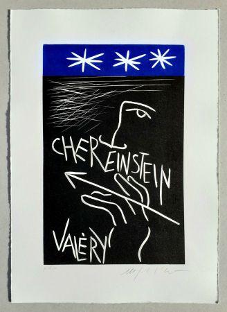 リノリウム彫版 Paladino - Cher monsieur Einstein