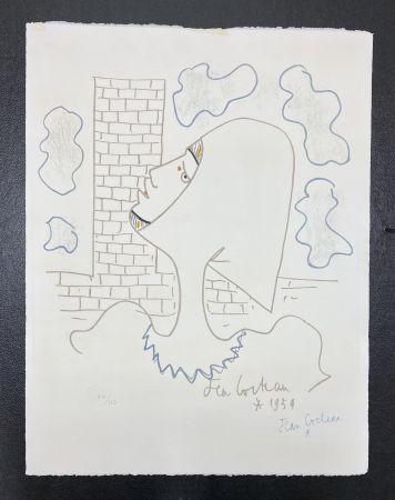 リトグラフ Cocteau - Chevaliers de la table ronde