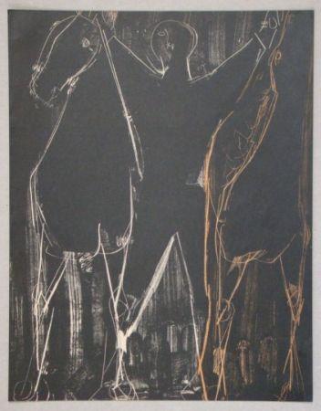 リトグラフ Marini - Chevaux Et Cavalier